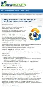 EfW can deliver 9 of Australia's abatement - Reneweconomy