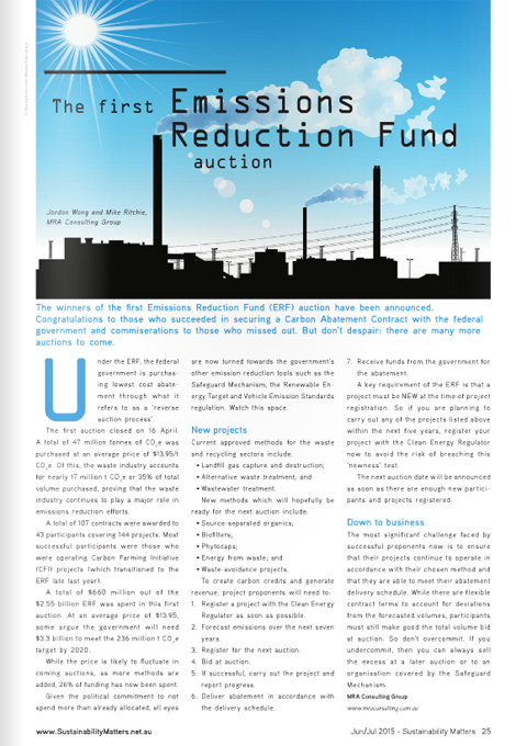 ERF Article - Sustainability Matters