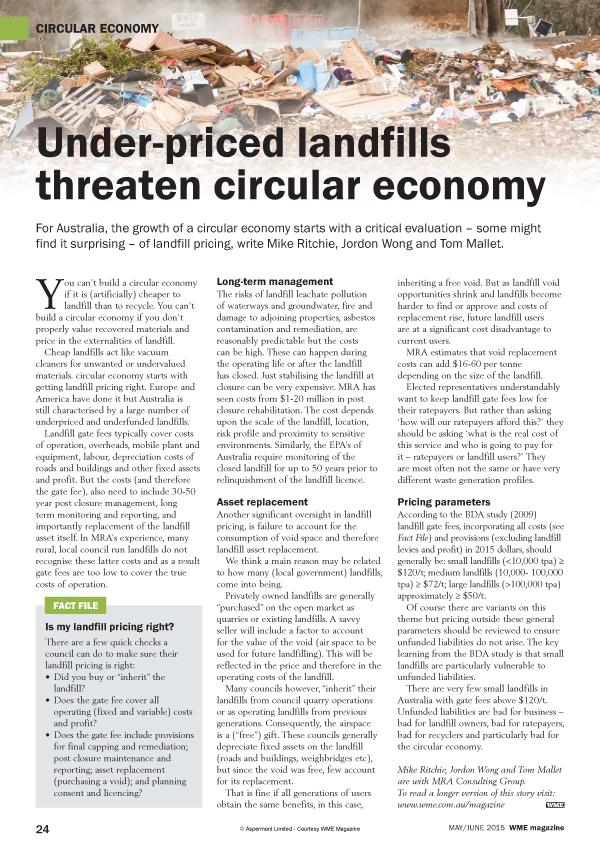 Under Priced Landfills –WME