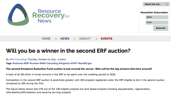 ERF Auction