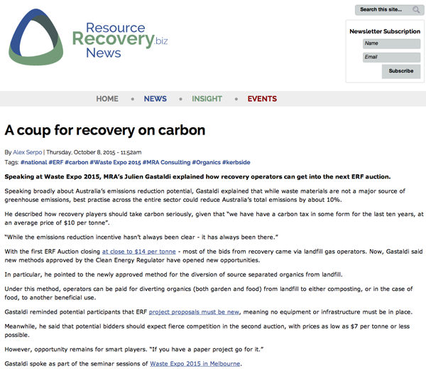 Recovery on carbon