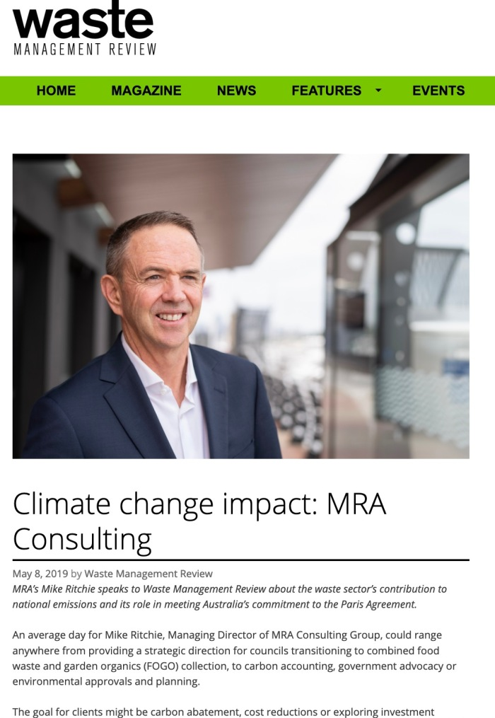 This interview was originally published in the April 2019 issue of Waste Management Review and posted on wastemanagementreview.com.au on 8 May 2019.